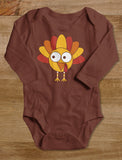 Little Turkey Thanksgiving Holiday Grow Vest Baby Long Sleeve Bodysuit