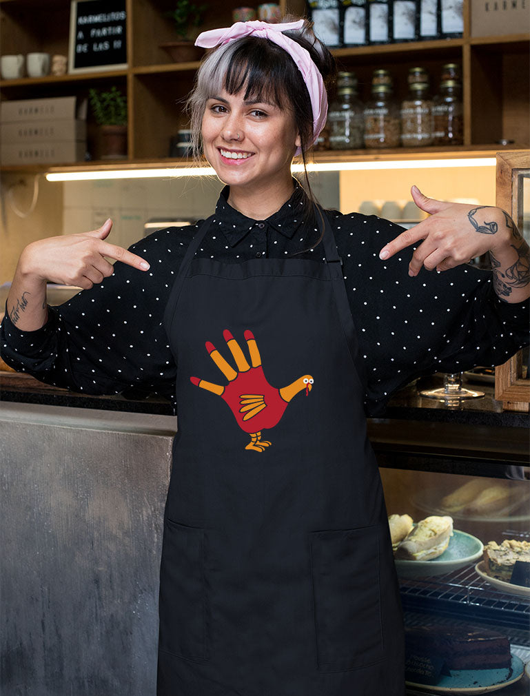 Turkey Hand - Funny Thanksgiving Cooking Chef Apron