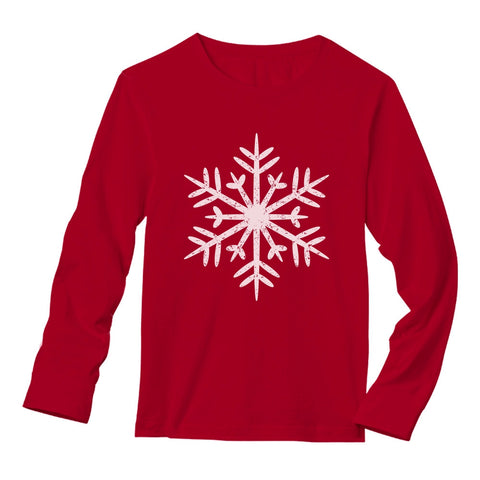 Tstars tshirts Big White Snowflakes Christmas Gift Xmas Long Sleeve T-Shirt