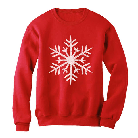 Tstars tshirts Big White Snowflakes Christmas Gift Xmas Women Sweatshirt