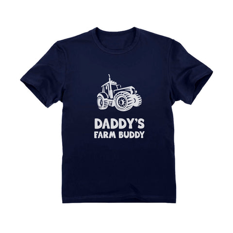 Tstars tshirts Daddy's Farm Buddy - Gift For Farmers Children Funny Toddler Kids T-Shirt