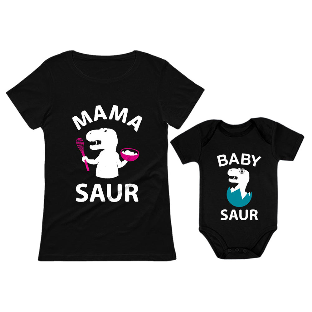 Mama Saur - T-Rex Mom & Baby Saur T-Rex Baby Matching Mother's Day Gift Set