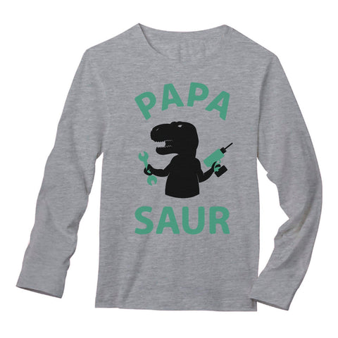 Tstars tshirts Papa - Saur Long Sleeve T-Shirt