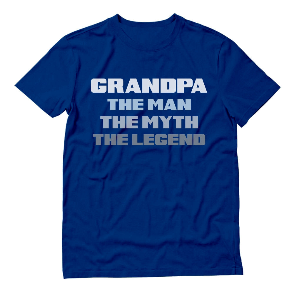 Grandpa The Man The Myth The Legend T-Shirt - Blue