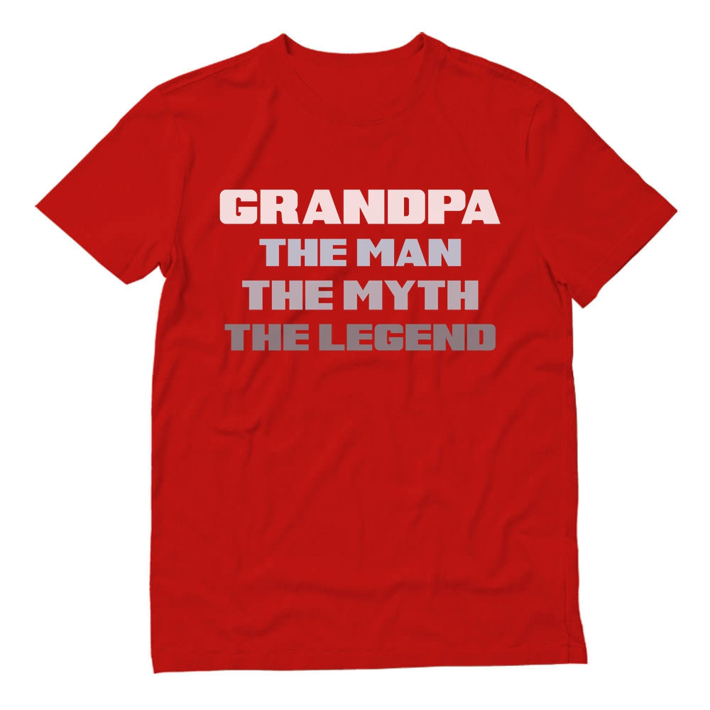 Grandpa The Man The Myth The Legend T-Shirt - Red