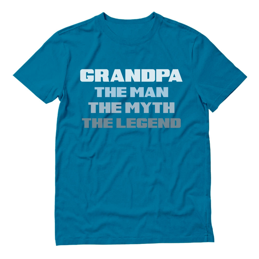Grandpa The Man The Myth The Legend T-Shirt - Aqua