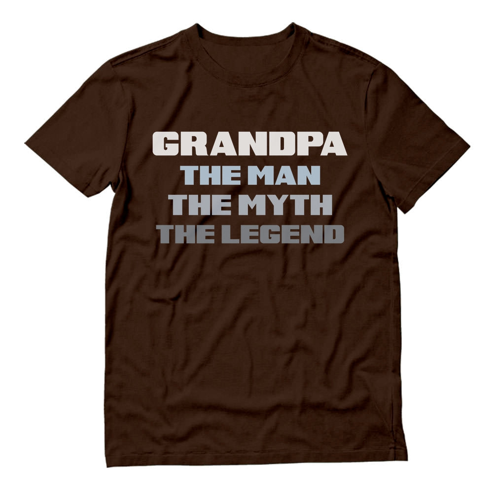 Grandpa The Man The Myth The Legend T-Shirt - Brown