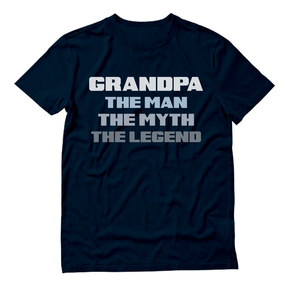 Grandpa The Man The Myth The Legend T-Shirt - Navy