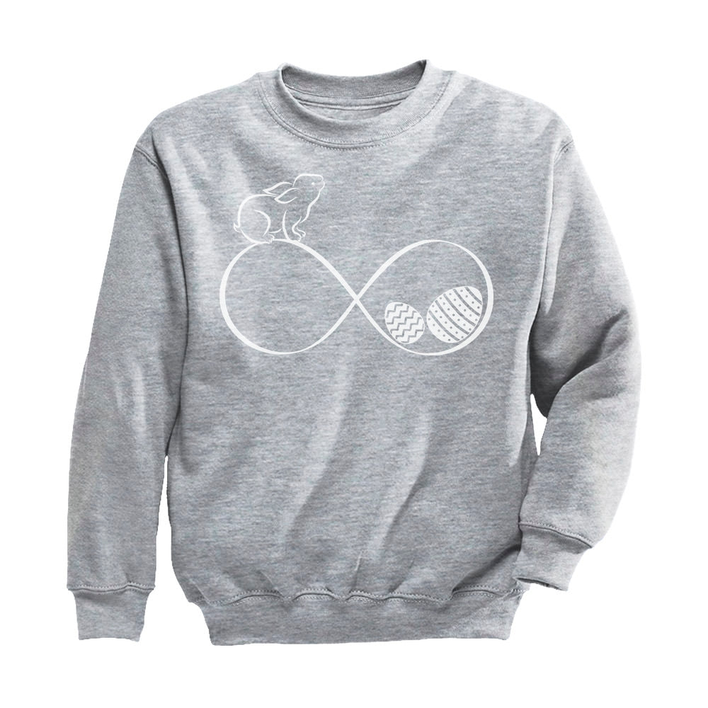 Infinity Easter Bunny & Eggs Youth Kids Sweatshirt