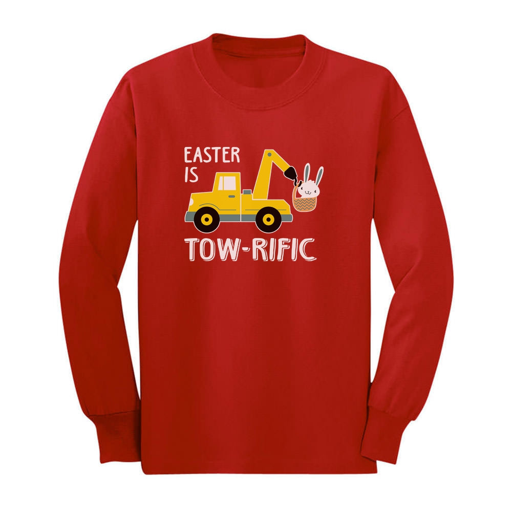Easter Is Tow-Rific Toddler Kids Long sleeve T-Shirt