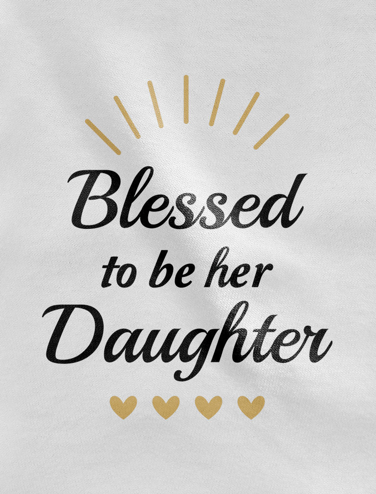 Blessed Mommy & Me Mom T-shirt & Daughter Bodysuit Matching Mother's Day Set