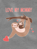 Love My Mommy Sloth Baby Bodysuit