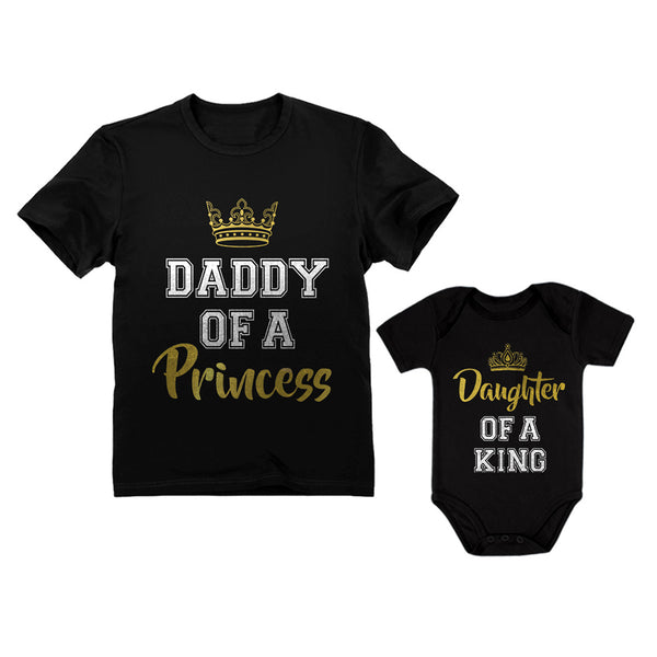 Tstars tshirts Father & Daughter Matching Set Gift For Dad & Baby Girl Bodysuit & Men's Shirt