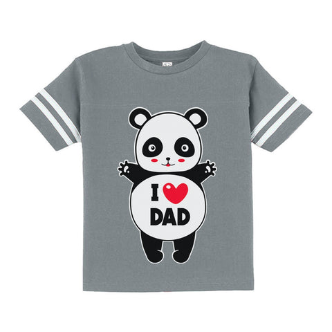 Tstars tshirts I Love Dad Panda Hug Toddler Jersey T-Shirt