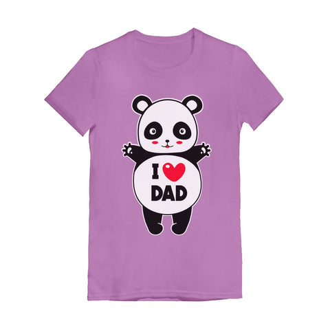 Tstars tshirts I Love Dad Panda Hug Infant Girls' Fitted T-Shirt