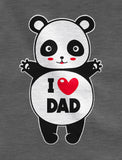 I Love Dad Panda Hug Toddler Hoodie