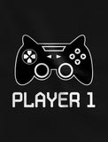 Big/Little Brother Shirts Player 1 Player 2 Gamer Gaming Siblings Set