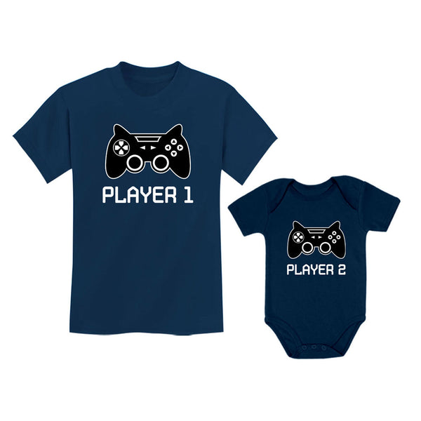 Tstars tshirts Big/Little Brother Shirts Player 1 Player 2 Gamer Gaming Siblings Set