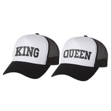 King & Queen Matching Couple Set Gift for Couples His and Hers Trucker Mesh Caps