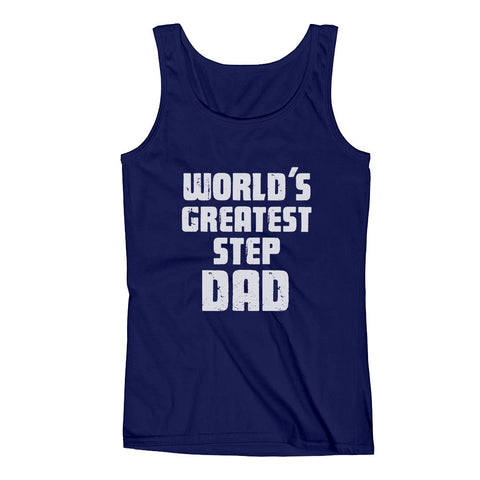 Tstars tshirts World's Greatest Step Dad Men's Tank Top