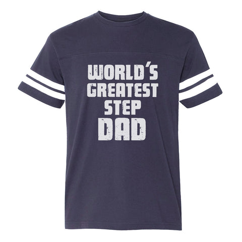 Tstars tshirts World's Greatest Step Dad Football Jersey T-Shirt