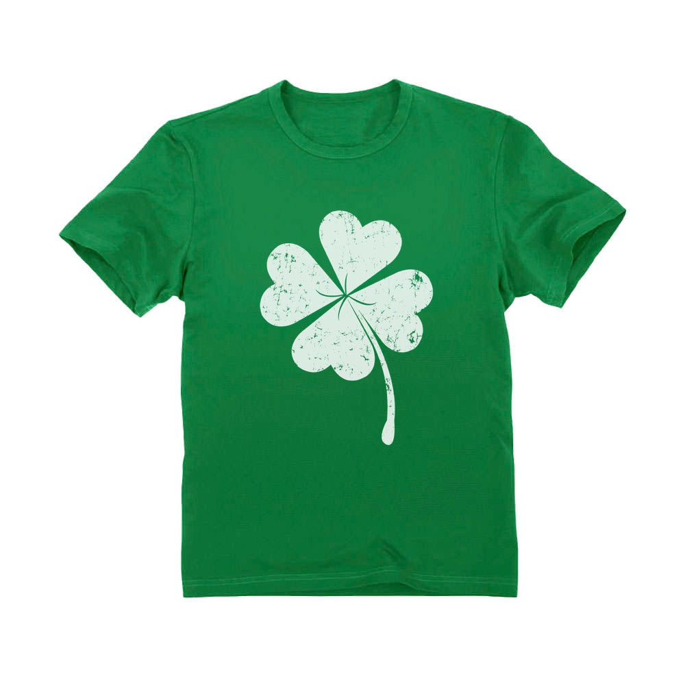 Cute Shamrock St. Patrick's Day Faded Clover Youth Kids T-Shirt
