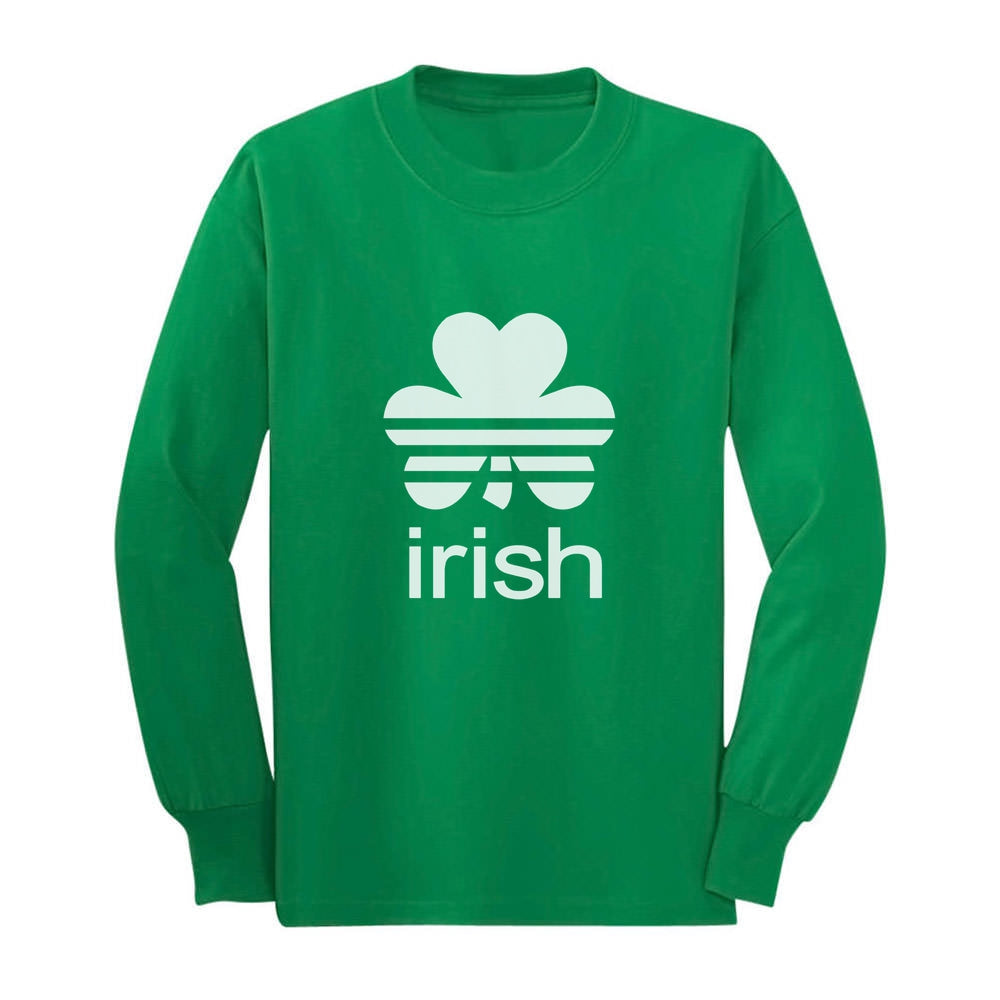Cute Irish Clover St. Patrick's Day Shamrock Toddler Kids Long sleeve T-Shirt