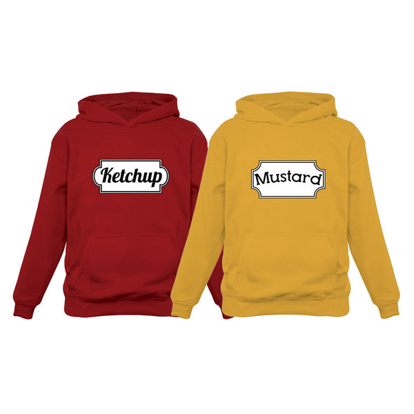 Tstars tshirts Ketchup & Mustard Funny Matching Couple Best Friends Hoodies Set