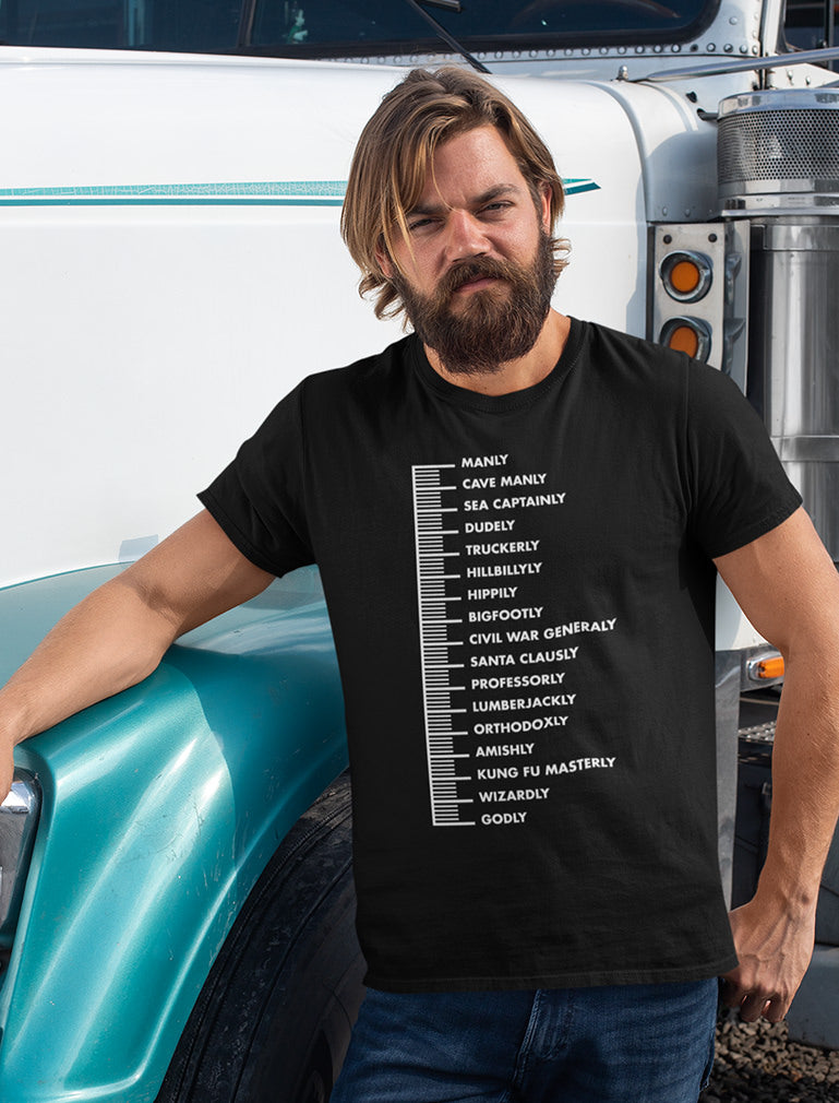 Beard Scale Funny Gift Idea T-Shirt