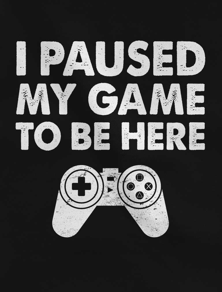 I Paused My Game To Be Here Youth Hoodie