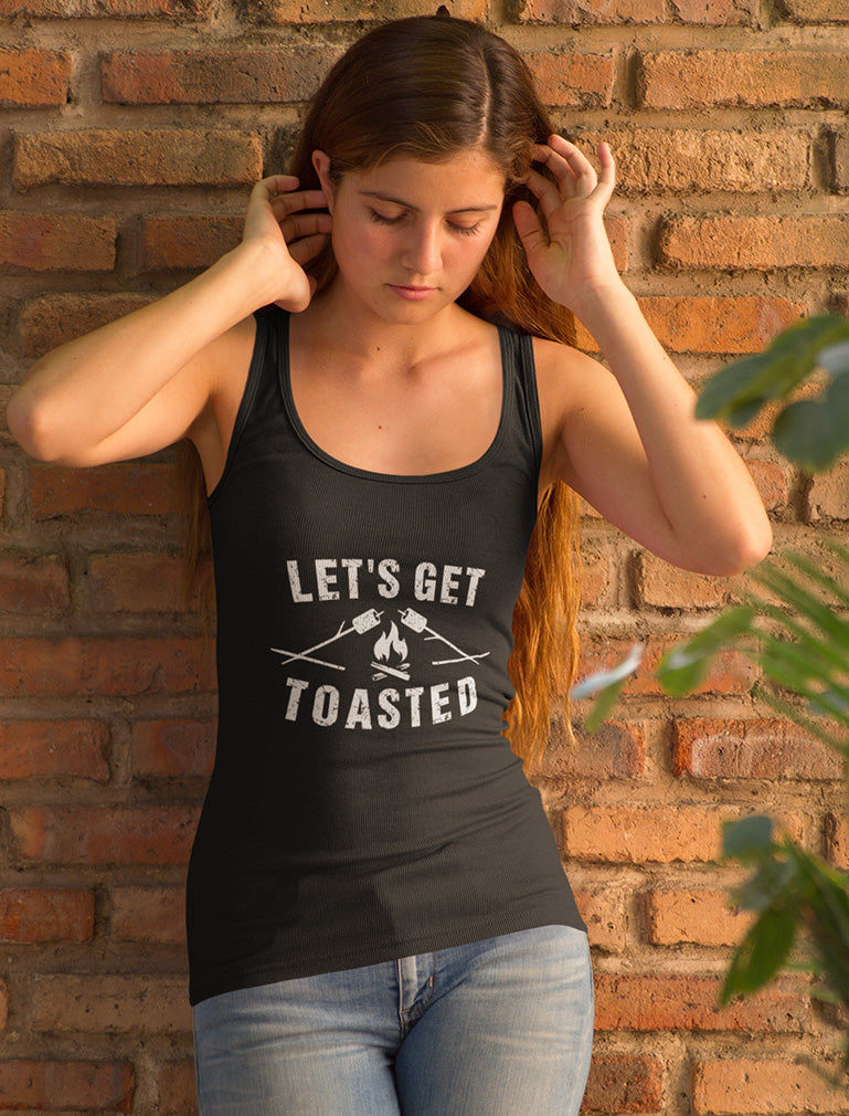 Let's Get Toasted Racerback Tank Top