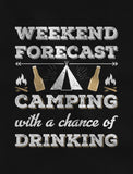 Weekend Forecast Camping with Drinking Women T-Shirt