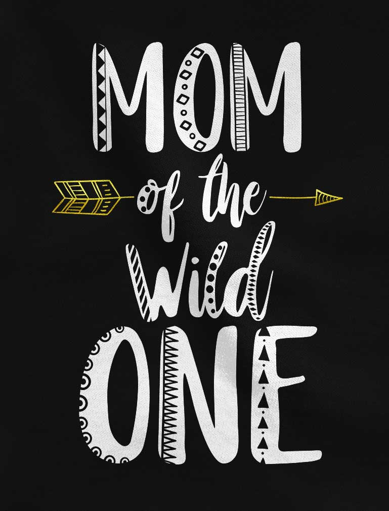 Mom Of The Wild One Racerback Tank Top