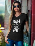 Mom Of The Wild One V-Neck Fitted Women T-Shirt