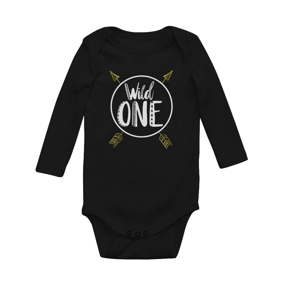 Wild One Baby Long Sleeve Bodysuit