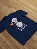 4th of July Dibs Moon USA Flag Youth Kids T-Shirt