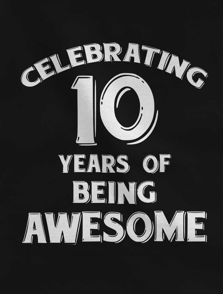 Celebrating 10 Years Of Being Awesome Youth Girls' Fitted T-Shirt - Chill Blue
