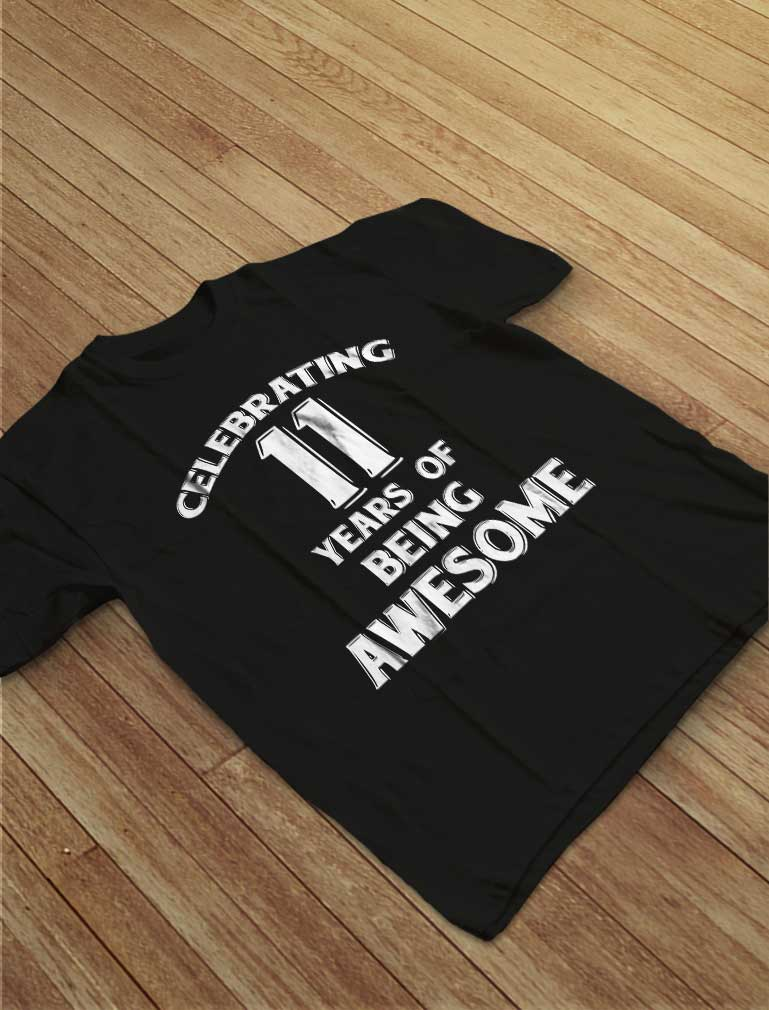 Celebrating 11 Years Of Being Awesome Youth T-Shirt
