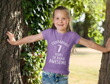 Celebrating 7 Years Of Being Awesome Youth Girls' Fitted T-Shirt