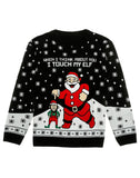 I Touch My Elf Ugly Christmas Unisex Xmas Sweater Sweater