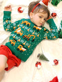 Tractors & Bulldozers Kids Ugly Christmas Sweater Toddler Sweater