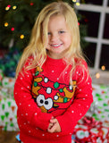Ugly Christmas Sweater Cute Funny Reindeer for Girls Boys Toddler Sweater