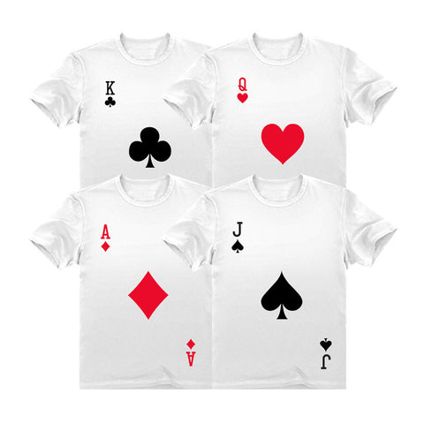Tstars tshirts Halloween Group Costume Deck of Cards Dress-Up Easy Halloween Shirts Costume Set