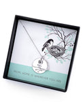 Necklace for Mom - Home is Wherever You are Heart Love Sterling Silver