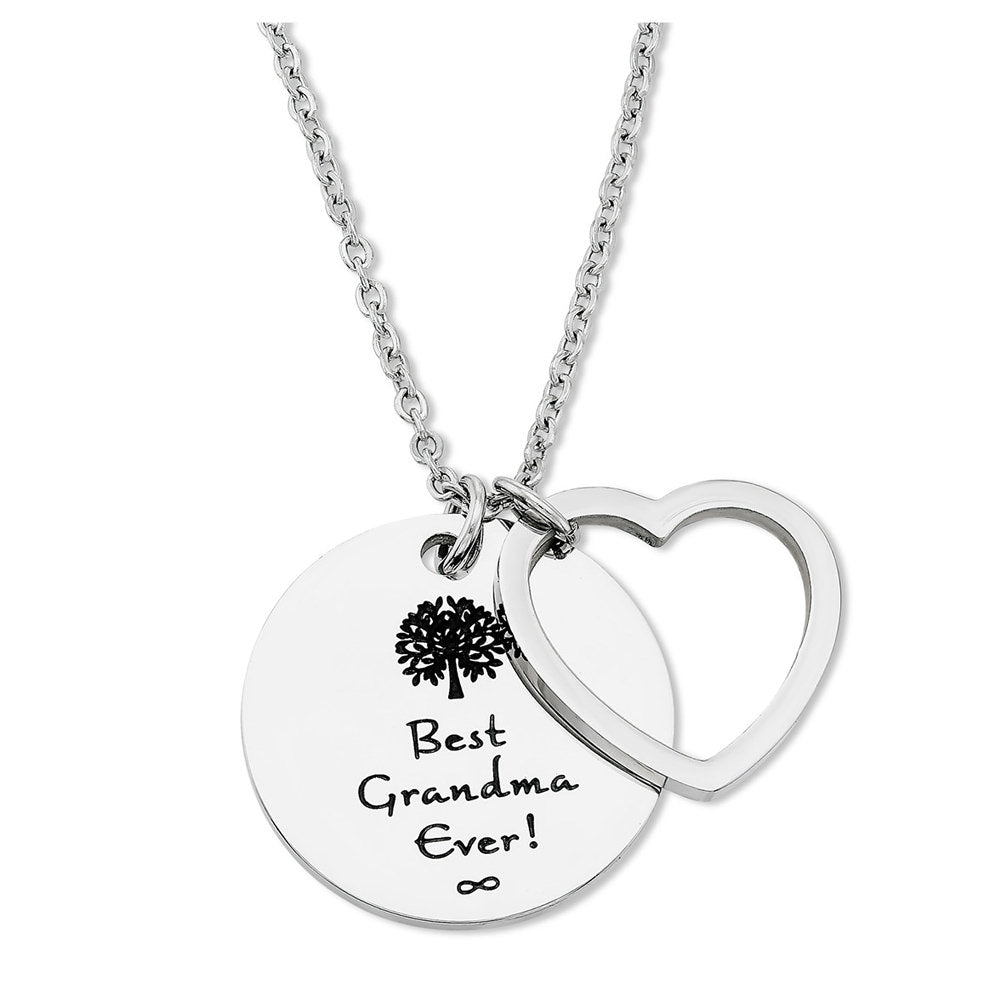 Best Grandma Ever - Necklace With 2 Pendants Tree Of Life & Heart for Nana