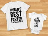 Best Farter I Mean Father - Like Farter Like Son Funny Dad & Me Matching Set
