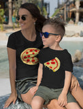 Pizza Pie & Slice Toddler & Women's T-Shirt Matching Set Mom & Son Daughter Set