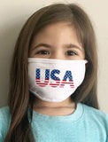 Patriotic Kids Face Mask Set of 3 American Flag USA Washable Face Mask Reusable