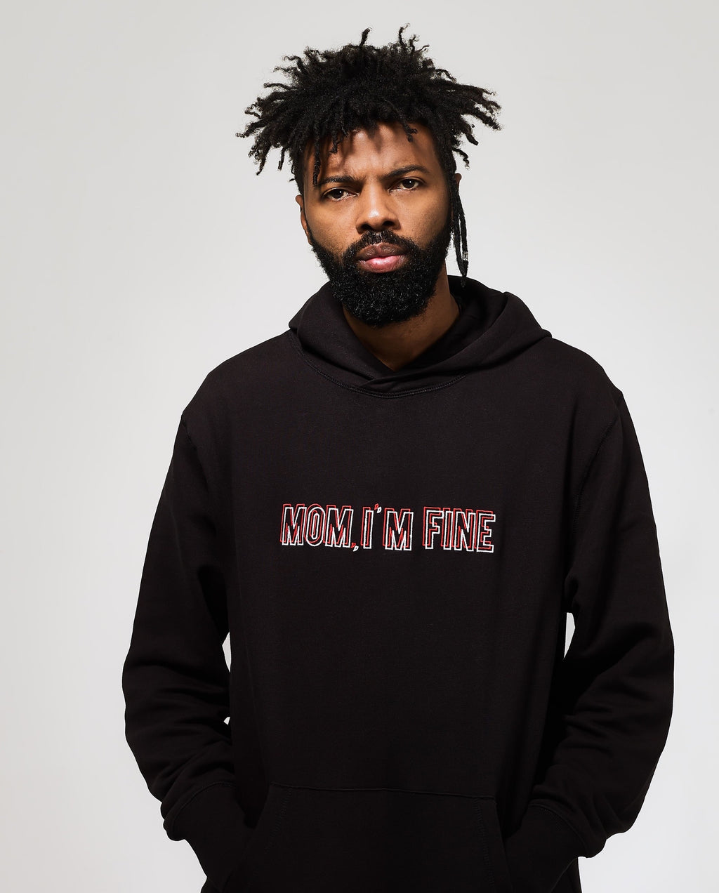 MOM, I'M FINE - BLACK HOODY