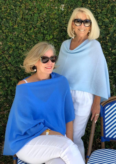 NEW!  Heavenly Blue and Splash Cashmere Toppers